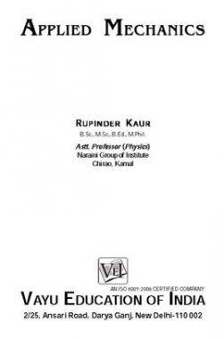 Applied Mechanics By Rupender Kaur