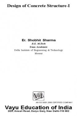 Design of Concrete Structure I By Er. Shobhit Sharma