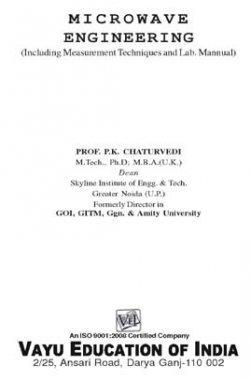 Microwave Engineering By P.K. Chaturvedi