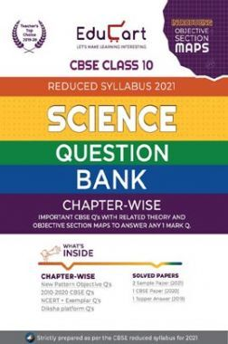 Educart CBSE Class-10 Science Question Bank (Reduced Syllabus) For 2021