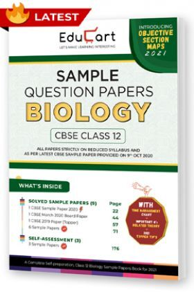 Educart CBSE Class 12 Biology Sample Question Papers 2021 (As Per 9th Oct CBSE Sample Paper)