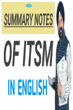 Summary Notes on ITSM (Old Course)