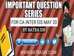 Important Question Series For CA INTER EIS May 2020