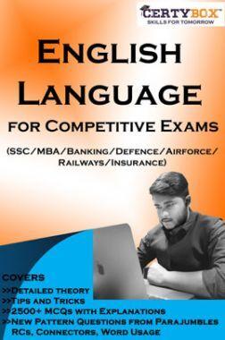 English Language For Competitive Exams (SSC/MBA/Banking/Defence/Airforce/Railways/Insurance)