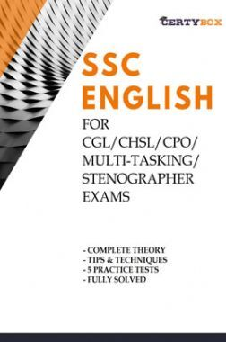 SSC English For CGL/CHSL/CPO/ Multi-Tasking/Stenographer Exams