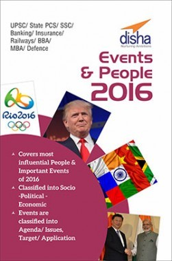 Top Events And People 2016-General Awareness and Current Affairs Vol 1 for Competitive Exams