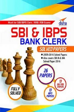 SBI & IBPS Bank Clerk Solved Papers - 26 papers