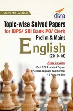 Topicwise Solved Papers For IBPS SBI Bank PO Clerk Prelim And Mains English