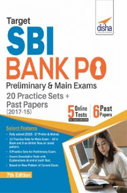 Target SBI Bank PO Preliminary & Main Exam - 20 Practice Sets + Past Papers (2017-15) - English