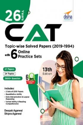 26 Years CAT Topic-Wise Solved Papers (2019-1994) With 6 Online Practice Sets 13th edition