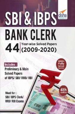 SBI & IBPS Bank Clerk 44 Year-Wise Solved Papers (2009-20) 4th Edition