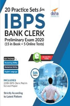 20 Practice Sets For IBPS Bank Clerk Preliminary Exam 2020 - 15 In Book + 5 Online Tests 5th Edition