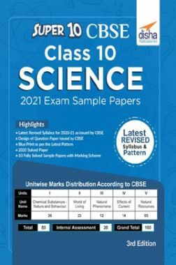 Super 10 CBSE Class 10 Science Sample Papers For 2021 Exam