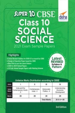 Super 10 CBSE Class 10 Social Science 2021 Sample Papers 3rd Edition