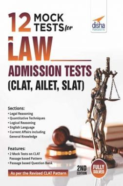 12 Mock Tests For Law Admission Tests - CLAT, AILET, SLAT