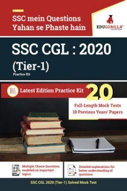 EduGorilla SSC CGL: 2020 Tier-I (Practice Kit)