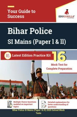 EduGorilla Bihar Police SI Mains (Paper l & ll) Latest Edition Practice Kit