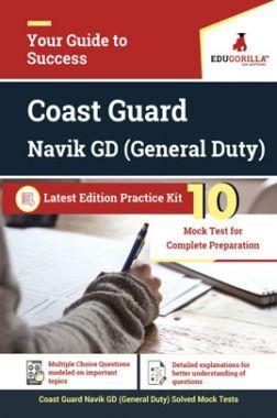 EduGorilla Coast Guard Navik GD (General Duty) Latest Edition Practice Kit
