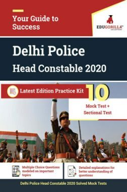 EduGorilla Delhi Police Head Constable 2020 Latest Edition Practice Kit