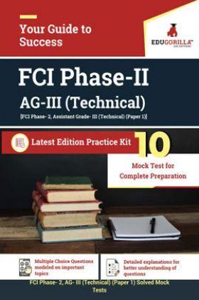 EduGorilla FCI Phase-II AG-III (Technical) Latest Edition Practice Kit