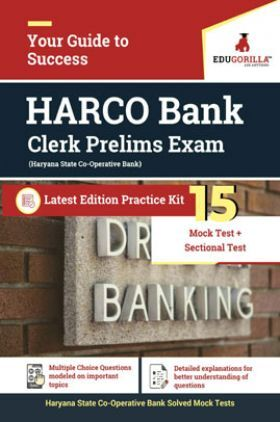 EduGorilla HARCO Bank Clerk Prelims Exam Latest Edition Practice Kit