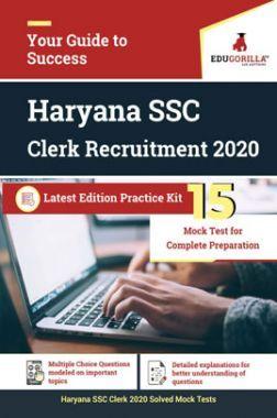 EduGorilla Haryana SSC Clerk Recruitment 2020 Latest Edition Practice Kit