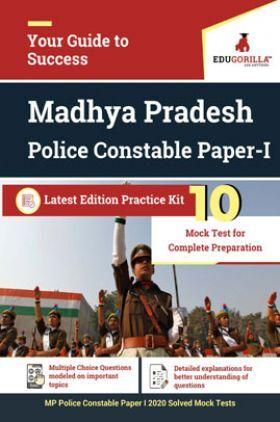 EduGorilla Madhya Pradesh Police Constable Paper-I Latest Edition Practice Kit