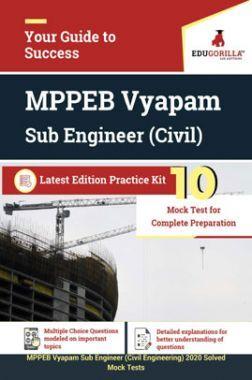 EduGorilla MPPEB Vyapam Sub Engineer (Civil) Latest Edition Practice Kit