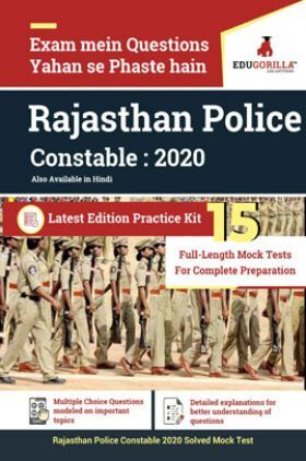 EduGorilla Rajasthan Police Constable : 2020 Latest Edition Practice Kit