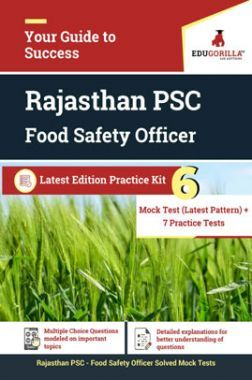 EduGorilla Rajasthan PSC Food Safety Officer Latest Edition Practice Kit