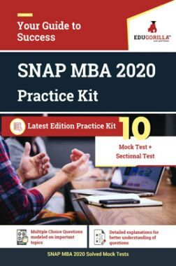 EduGorilla SNAP MBA 2020 Practice Kit Latest Edition Practice Kit
