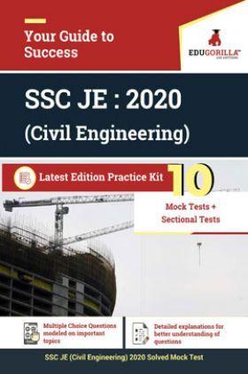 EduGorilla SSC JE : 2020 (Civil Engineering) Latest Edition Practice Kit