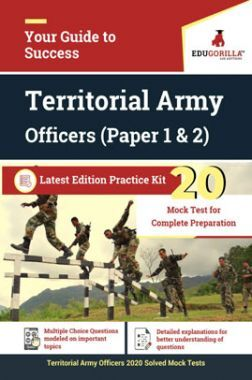EduGorilla Territorial Army Officers (Paper 1 & 2) Latest Edition Practice Kit