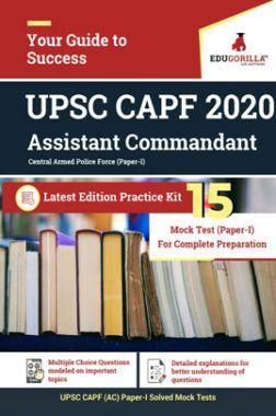 EduGorilla UPSC CAPF 2020 Assistant Commandant Latest Edition Practice Kit