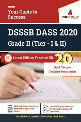 EduGorilla DSSSB DASS 2020 Grade II (Tier - I & II) Latest Edition Practice kit