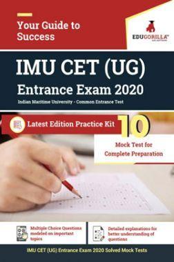 EduGorilla IMU CET (UG) Entrance Exam 2020 Latest Edition Practice kit