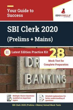 EduGorilla SBI Clerk 2020 (Prelims + Mains) Latest Edition Practice kit