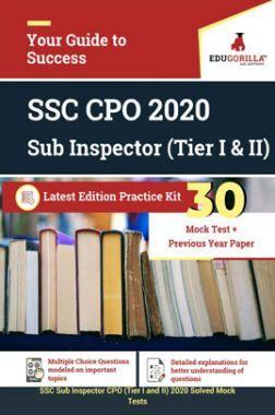 EduGorilla SSC CPO 2020 Sub Inspector (Tier I & II) Latest Edition Practice kit