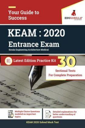 EduGorilla Kerala Engineering Architecture Medical (KEAM) Entrance Exam | 2020| Sectional Tests | Latest Edition Practice Kit