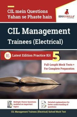 EduGorilla CIL Management Trainees (Electrical)   5 Full-Length Mock Test for Complete Preparation