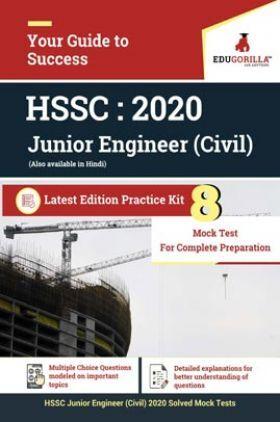 EduGorilla HSSC Junior Engineer (JE) Civil 2020 | 8 Full Length Mock Test | Latest Edition Practice Kit