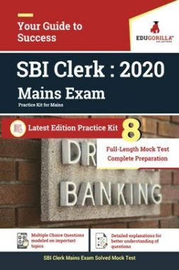 EduGorilla SBI Clerk Mains 2020   Practice Kit For Mains   8 Full-Length Mock Tests