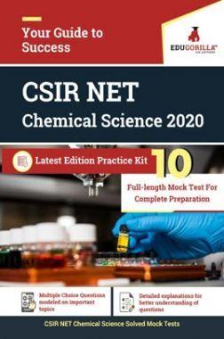 EduGorilla CSIR NET Chemical Science 2020   10 Full-Length Mock Test For Complete Preparation