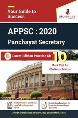 EduGorilla APPSC Panchayat Secretary 2020 | 10 Mock Test for (Pre + Mains)