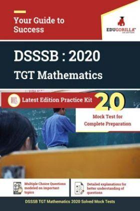 EduGorilla DSSSB TGT Mathematics 2020   20 Mock Test For Complete Preparation