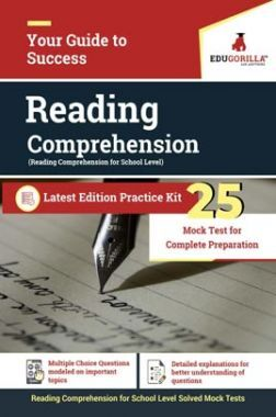 EduGorilla Reading Comprehension For School Level | 25 Practice Tests