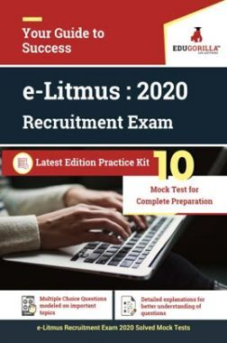EduGorilla E-Litmus Recruitment Exam 2020   10 Mock Test For Complete Preparation