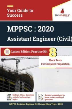 EduGorilla MPPSC Vyapam Assistant Engineer (AE) Civil  2020   8 Full Length Mock Test   Latest Edition Practice Kit