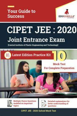 EduGorilla CIPET JEE (Joint Entrance Exam) 2020 - 10 Mock Test - Latest Edition Practice Kit