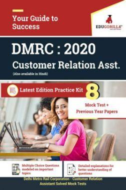 EduGorilla Delhi Metro Rail Corporation (DMRC) - Customer Relation Assistant (CRA) 2020 - 8 Full Length Mock Test - Latest Edition Practice Kit